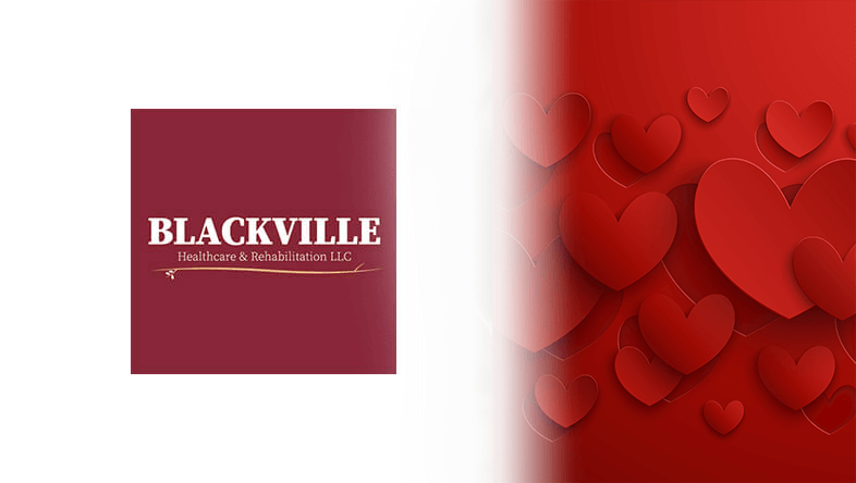 Blackville Logo with Hearts for love background