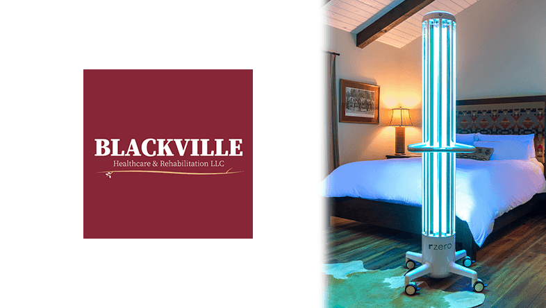 Blackville Healthcare Logo and Picture of RZero Arc Unit