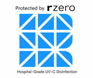 Protected by rzero Hospital grade uV-C Disinfection